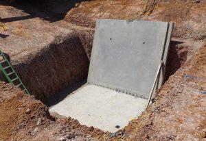 Precast panel collapse